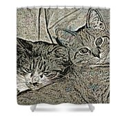 Catalina And Chunky Shower Curtain