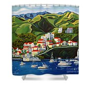 Catalina Island 2 Shower Curtain by Milagros Palmieri