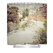 Catalina Island Mountain Road Picture Shower Curtain