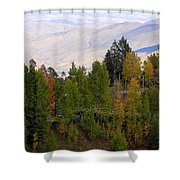 Catalina Mountains In The Fall Shower Curtain