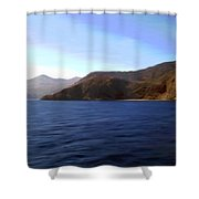 Catalina Shoreline Shower Curtain