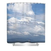 Catamaran Beach Clouds Shower Curtain