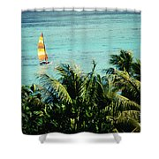 Catamaran On Tumon Bay Shower Curtain