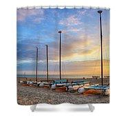 Catamarans In The Sun Shower Curtain
