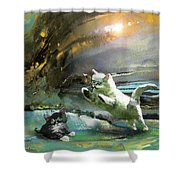 Catapult Of Love Shower Curtain