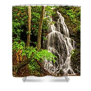 Cataract Falls In Great Smoky Mountains National Park Shower Curtain