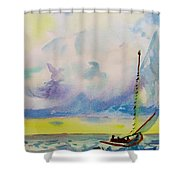Catboat Shower Curtain