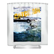 Catch Air Shower Curtain