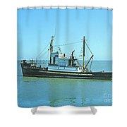 Catch Boat Allen Cody For Del Monte Fishing Co. Taken On July 5  Shower Curtain