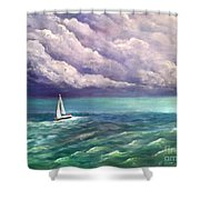 Tell The Storm Shower Curtain
