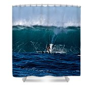 Catching A Big Wave, North Shore, Oahu Shower Curtain