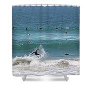 Catching Air In Huntington Beach California Shower Curtain