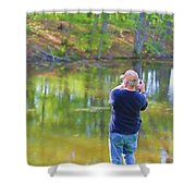 Catching Fish Shower Curtain