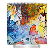 Catching Love Shower Curtain