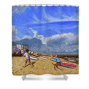 Catching The Ball, St Ives Shower Curtain
