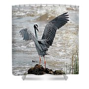 Catching The River Breeze Shower Curtain