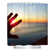 Catching The Sunset At Sleeping Bear Shower Curtain