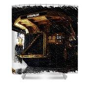 Caterpillar 797f Mining Truck Pa  Shower Curtain