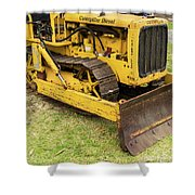 Caterpillar D2 Bulldozer 01 Shower Curtain