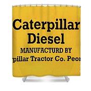Caterpillar D2 Bulldozer 08 Shower Curtain