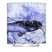 Catfish Blue Shower Curtain