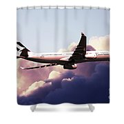 Cathay Pacific Airbus A330-343 Shower Curtain
