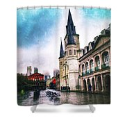 Cathederal From Side Shower Curtain