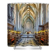 Cathedral Aisle Shower Curtain