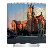Cathedral At Dawn Shower Curtain