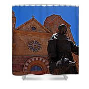 Cathedral Basilica In Santa Fe Shower Curtain