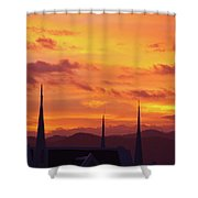 Cathedral Church Sunset Shower Curtain