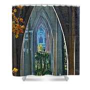 Cathedral Columns Of The St. Johns Bridge Shower Curtain