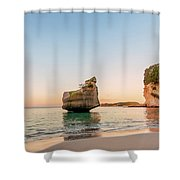 Cathedral Cove, New Zealand Shower Curtain