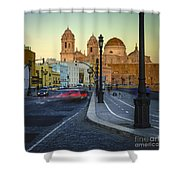 Cathedral From Campo Del Sur Cadiz Spain Shower Curtain
