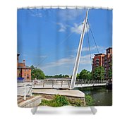 Cathedral Green Bridge At Derby Shower Curtain