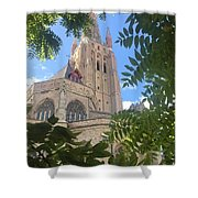 Cathedral In Brugge Shower Curtain