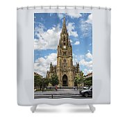 Cathedral In San Sebastian Is The Largest Religious Structure In The Basque Country Shower Curtain