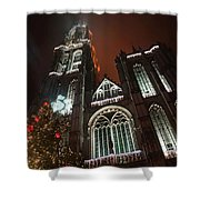Cathedral In The Mist Shower Curtain
