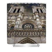 Cathedral Notre Dame Of Paris. France   Shower Curtain