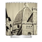 Cathedral Of Brunelleschi In Florence Shower Curtain