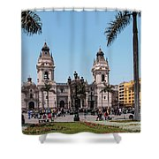 Cathedral Of Lima Shower Curtain