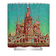 Cathedral Of St. Basil, Moscow Russia Shower Curtain