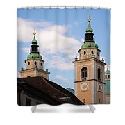 Cathedral Of St Nicholas In Ljubljana Shower Curtain