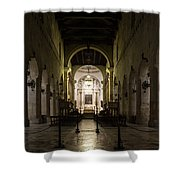 Cathedral Of Syracuse - Duomo Di Siracusa - An Ancient 2500 Years Old Greek Temple Shower Curtain