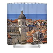 Cathedral Of The Assumption Of The Virgin In Dubrovnik Shower Curtain