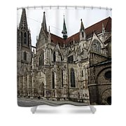 Cathedral Regensburg Shower Curtain