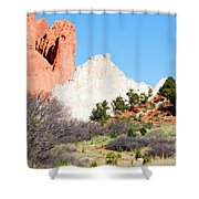Cathedral Rock In Garden Of The Gods Park Shower Curtain