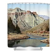 Cathedral Rock John Day River Shower Curtain