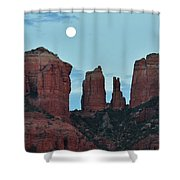 Cathedral Rock Moon 081913 E2 Shower Curtain