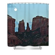 Cathedral Rock Moon 081913 G Shower Curtain